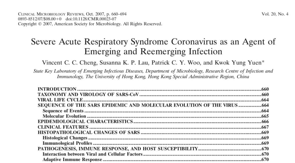 El Articulo Cientifico Que En 2007 Previno Sobre La Eventual Aparicion De Un Nuevo Coronavirus Noticias Udec