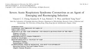 El artículo científico que en 2007 previno sobre la eventual aparición de un nuevo Coronavirus