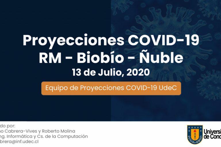 Presentan octava proyección UdeC sobre avance del Covid-19 en Santiago, Biobío y Ñuble
