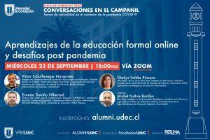 Webinar UdeC analizará los aprendizajes y desafíos de la educación online tras la pandemia
