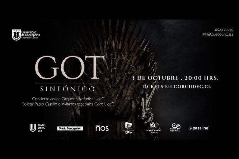 Sinfónica UdeC vuelve al escenario online con GOT Sinfónico