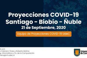 Presentan decimoctava proyección UdeC sobre avance del Covid-19 en Santiago, Biobío y Ñuble