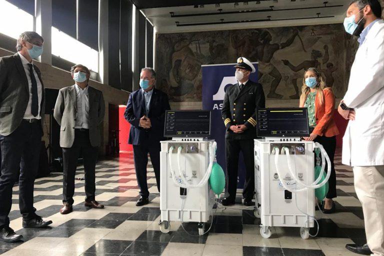 Un Respiro Para Chile: UdeC y Asmar entregan 10 ventiladores mecánicos a Hospital Regional