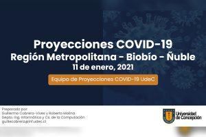Equipo Covid-19 UdeC mantiene proyección de alza de contagios en Biobío, Ñuble y Santiago