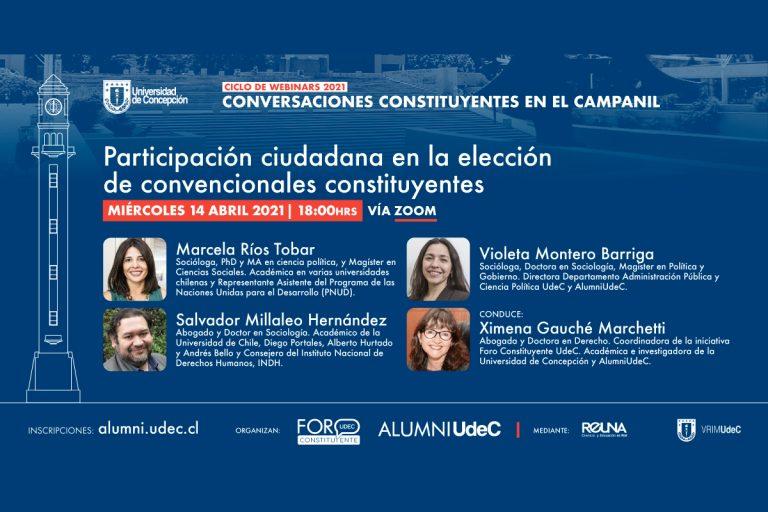 """Comienza ciclo de webinars """"Conversaciones Constituyentes en el Campanil"""""""