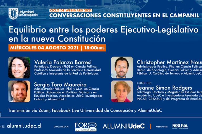«Conversaciones Constituyentes en el Campanil» dialogará sobre equilibrio entre poderes Ejecutivo y Legislativo