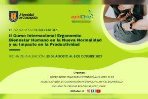 UdeC y AGCID inician II Curso Internacional de Ergonomía que capacitará a profesionales de Latinoamérica